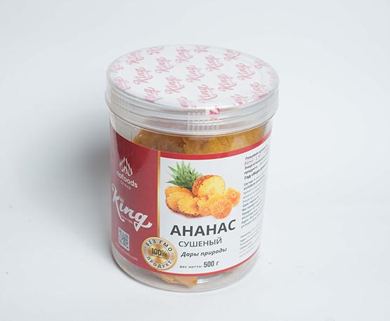Цукаты из ананаса без сахара в упаковке 500 г