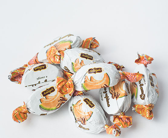 Конфеты «Дыня с орехом»